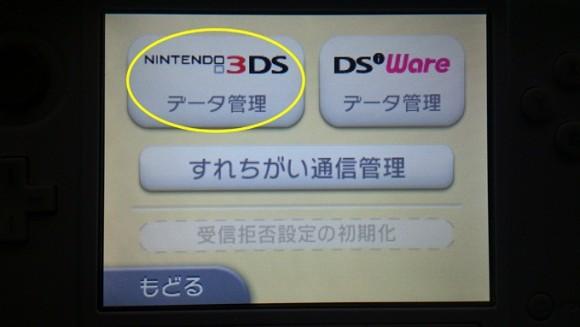 3DSデータ管理